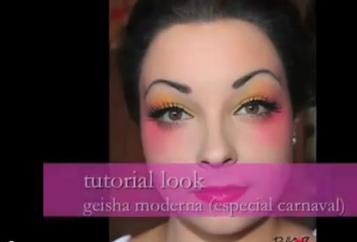 Maquillajes De Carnaval Maquillaje De Geisha Moderno Carnaval