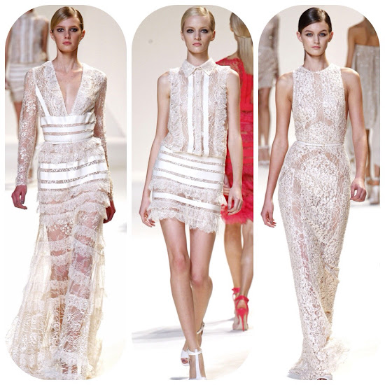 Elie Saab Spring 2013 Runway See through lace fashion