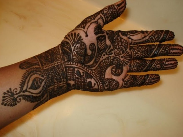 simple arabic mehandi designs