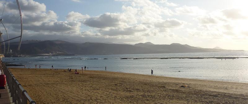 Playa de las Canteras, Strand in Las Palmas auf Gran Canaria.