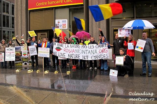 Proteste pentru Rosia Montana in Montreal