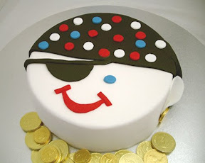 Pirate face cake from Kidspot