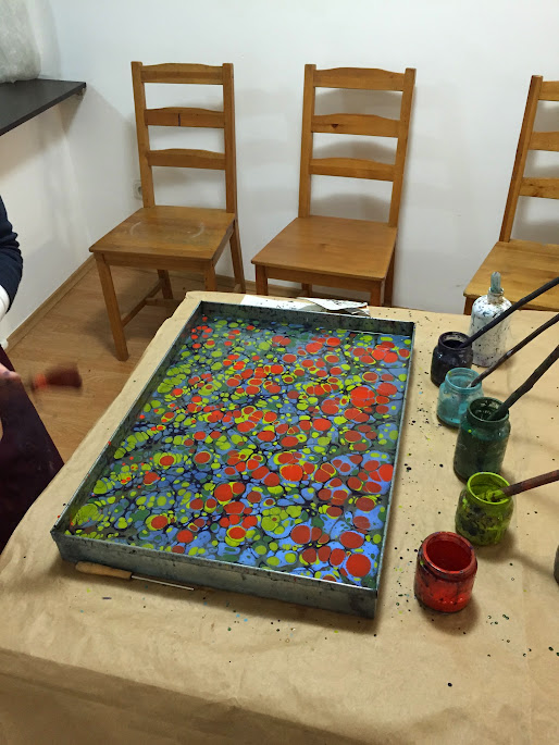ebru art marbling process