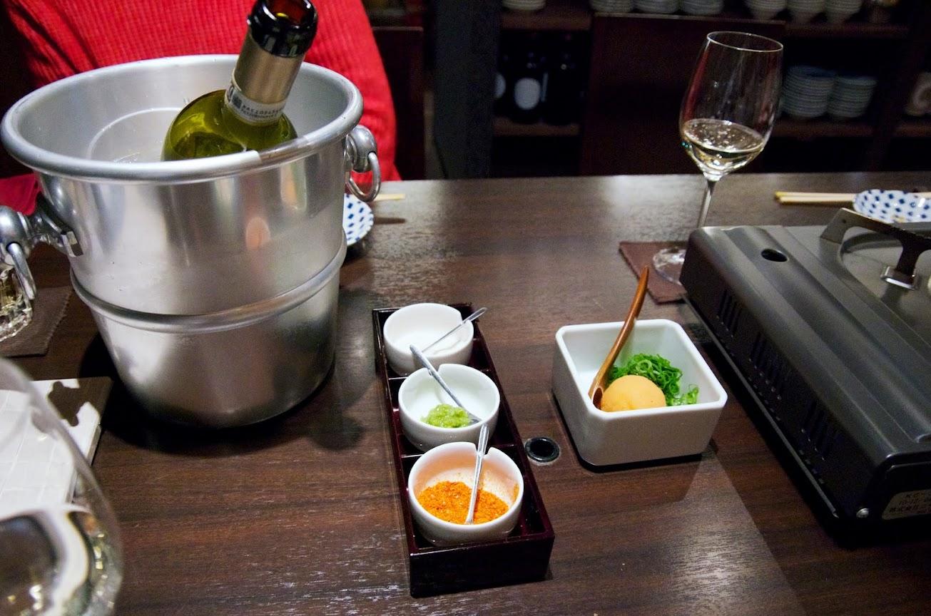 薬味 (昆布塩、柚子胡椒、かんずり、もみじおろし)