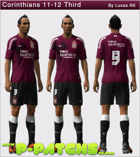 Corinthians 11-12 Kit Third para PES 2011 PES 2011 download P-Patchs
