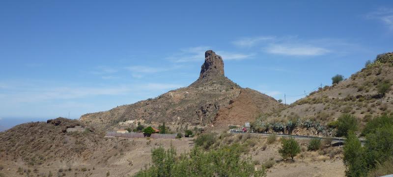 Roque de Bantayga, ein Fels bei Tejeda, Gran Canaria.