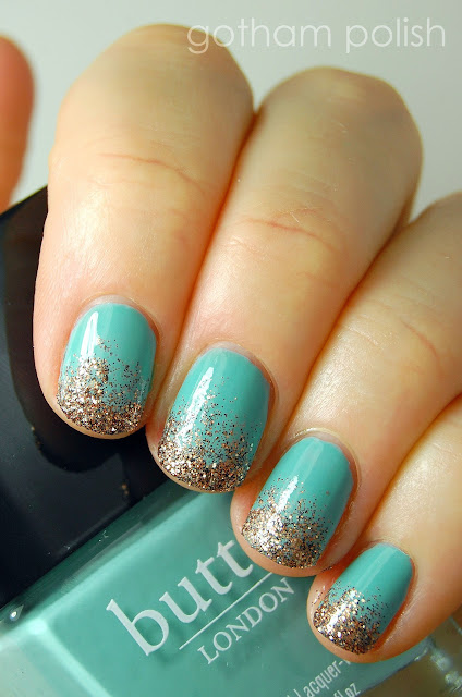 butter LONDON Poole and Bit Faker glitter gradient