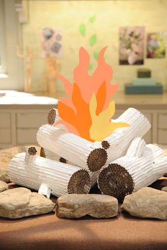 The finished faux fireplace. Photo: David E. Steele/The Martha Stewart Show