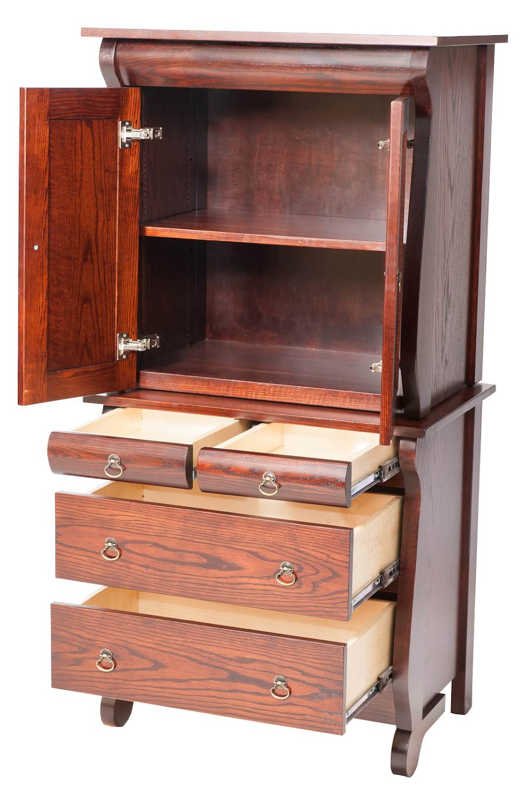 Classic Armoire Dressers Solid Wood Dresser In The