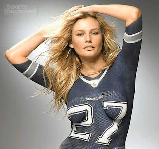 Sports Jersey Body Painting pictures of Hot Models