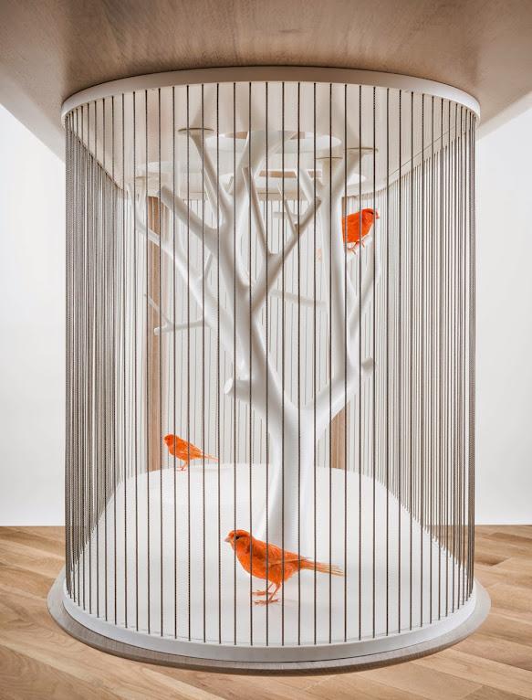 *景觀鳥籠書桌:法國藝術家Grégroire de Laforrest愜意的結合 5
