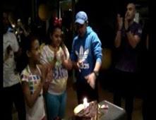 محمد هنيدى يحتفل بعيد ميلاد ابنته