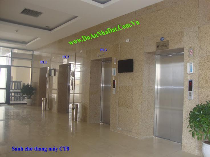 sảnh chờ thang máy CT8