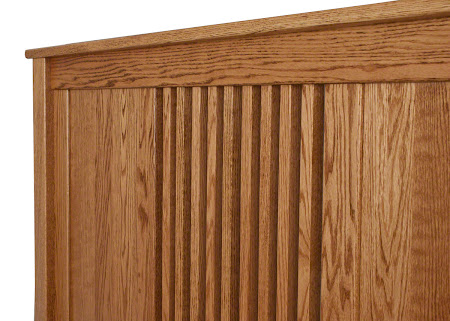 Hillside Bed Frame in Honey Oak Details