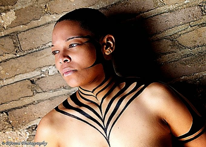 Stanley William Moore II artist » body art – black pattern