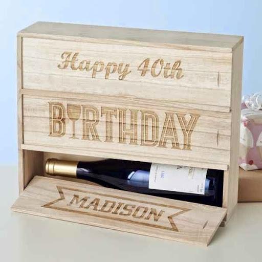 Caja de vino personalizado