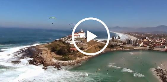 Vídeo fantástico de paramotor em Saquarema
