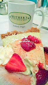 California Avocado Commission and Chef Lisa Schroeder of Mother's Bistro & Bar celebrate June California Avocado Month with Dessert of Avocado Lime Pie in a graham cracker crust topped with fresh Oregon strawberries and whipped cream