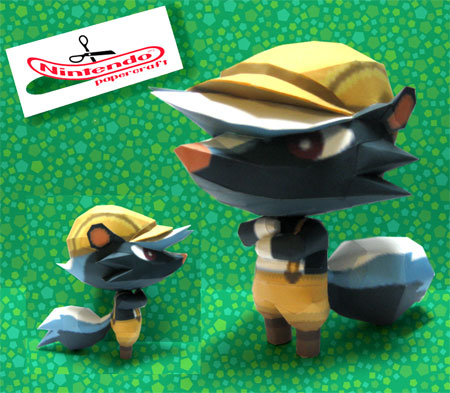 Animal Crossing Kicks Papercraft