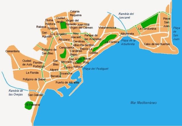 San Juan Alicante Mapa.Playa San Juan Alicante Ubicacion De La Urbanizacion Club