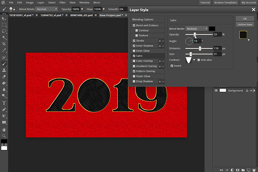 How to Create a Card for Chinese New Year in Pixlr Pro
