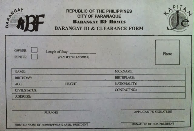 barangay clearance form Application form for business permit & license – single proprietorship  application form for business permit & license – partnership/.