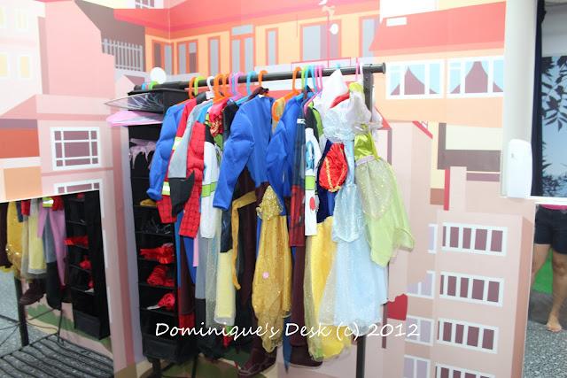 The costume rack