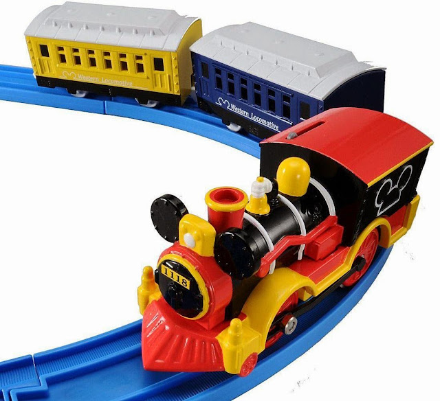 Tầu hỏa chuột Mickey Western Locomotive màu sắc bóng bẩy tươi vui