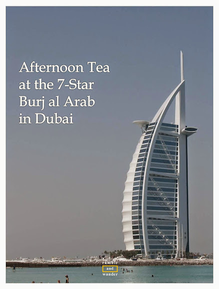 An afternoon tea at Burj al Arab, the world's only 7-star hotel