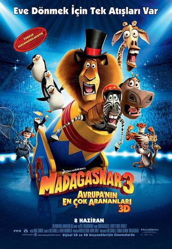 Madagaskar 3: Avrupanın En Çok Arananları