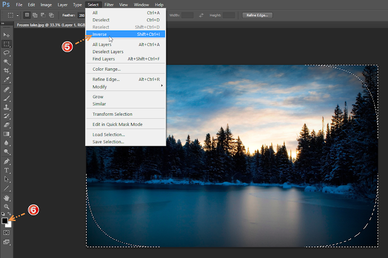 Photoshop - 3 เทคนิคง่ายๆ ในการปรับแต่งภาพแนว Vignette Effect ด้วย Photoshop Vignette07