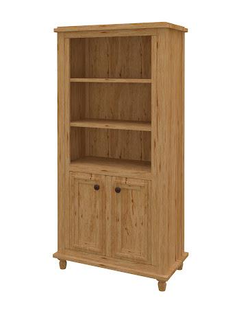 Lotus Wooden Door Bookshelf in Classical Maple
