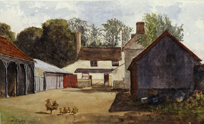 The Manor Farm. From A Record of Shelford Parva by Fanny Wale P74