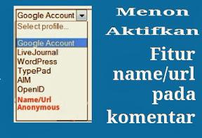 Cara Menonaktifkan Fitur Name/Url Dan Anonymous Pada Komentar