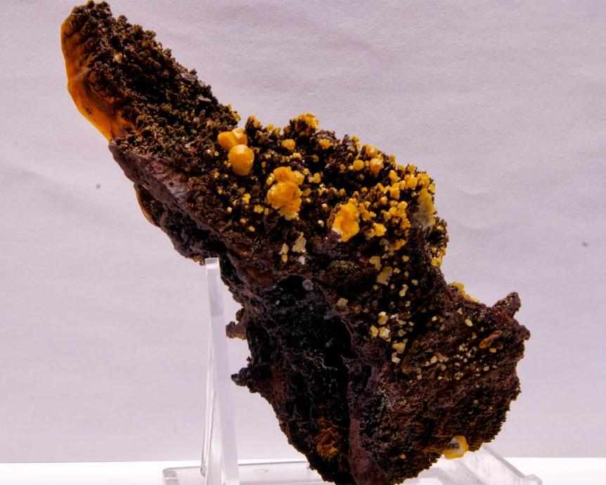 Colección de Geodas y demás piezas. Limonita+y+Calcita+con+goetita+irisada%252C