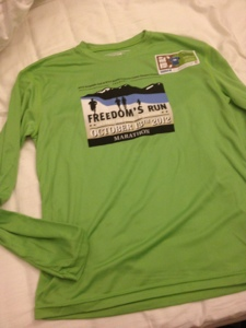 Freedomʻs Run Marathon Race Shirt