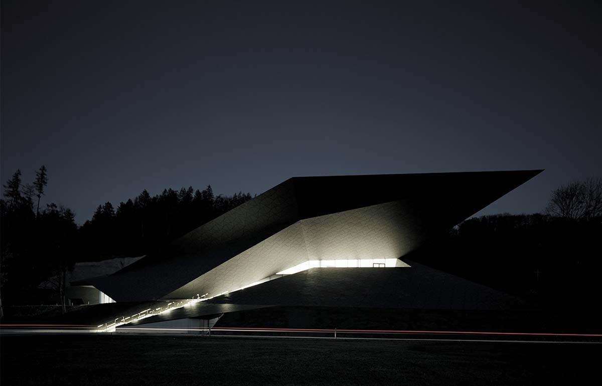 Erl Winter Festival Hall design by Delugan Meissl Architects