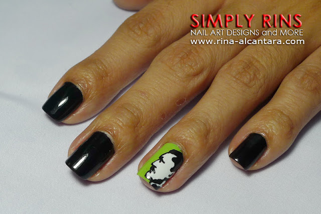 Jose Rizal nail art design 01