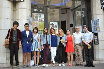 Ouverture du festival franco-chinois de court-métrage Jeunes Talents. Parmi les participants, Amandine BLASQUEZ (déléguée de l'association Zéro distance), Caroline ZHANG (directrice de l'association Zéro distance), Yves TRAYNARD (CFFC), Aurélien FLAMENT (chine-et-films.com)