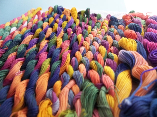 Lots of colourful thread.