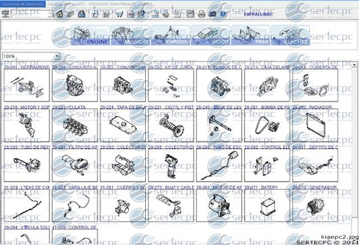 Manual De Despiece Catalogo De Partes Kia