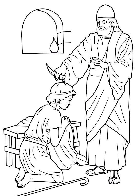 Samuel and David coloring pages