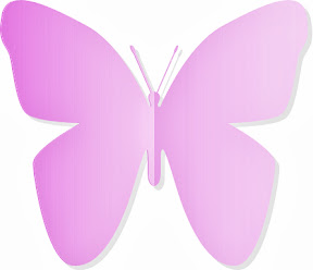 Mariposa rosa de papel.