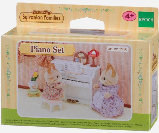 Bao bì sản phẩm Bộ đàn piano Sylvanian Families 2950