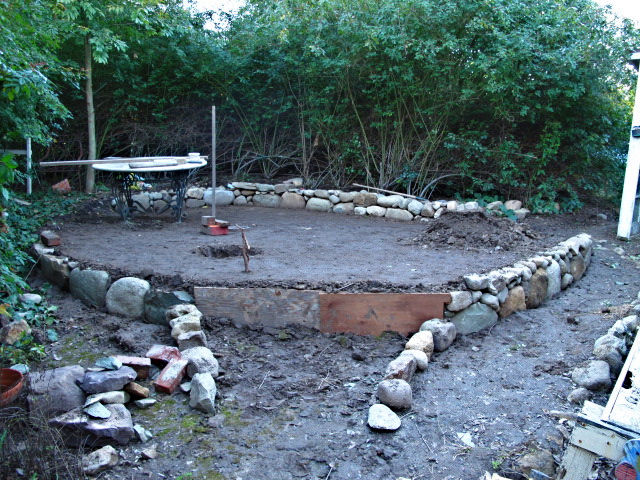 Captivating We Have Levelled It Off And Have Had To Make A Little Stone Wall To Retain  The Dirt Which We Filled The Area With To Level ...