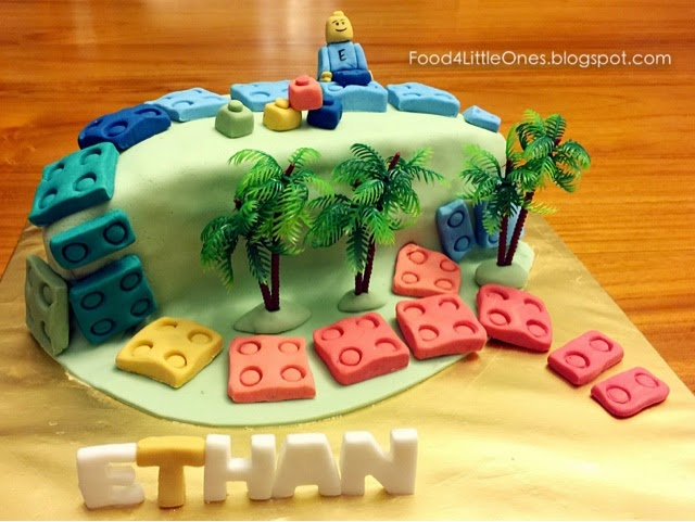 Food for Little Ones: {Birthday Special} The Lego Cake!