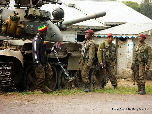 Des militaires des Forces armées de la RDC (FARDC) dans l'Est du pays.