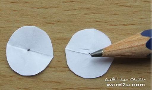 ورد من ورق بطاقات معايده شرح بالخطوات