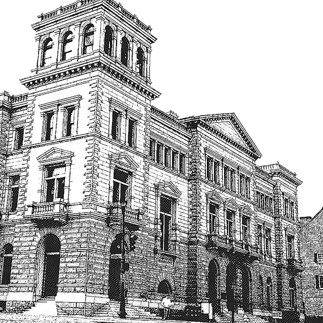 3 old building sketches my public domain pictures