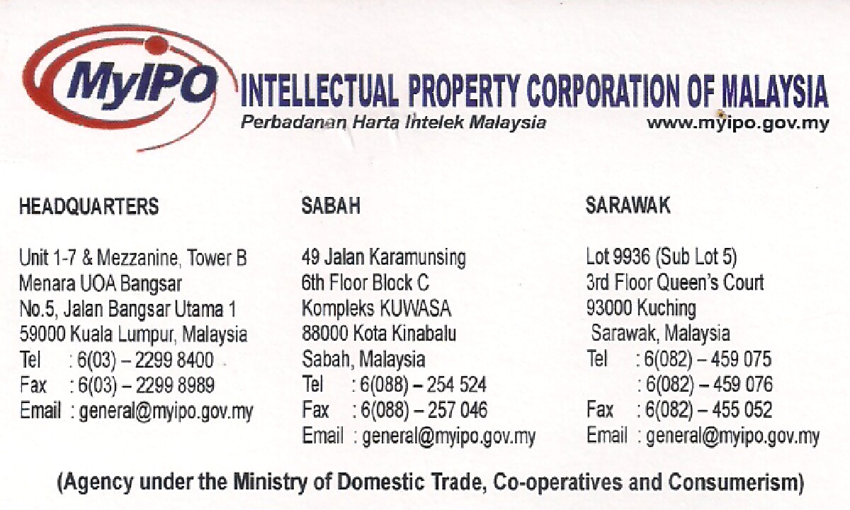 Robestyong 115 Intellectual Property Corporation Of Malaysia Myipo